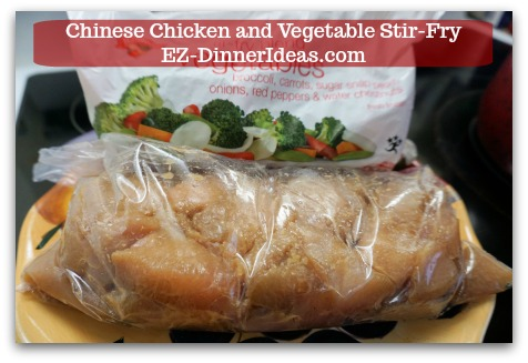 Chicken Stir-Fry Recipe | Chinese Chicken and Vegetable Stir-Fry - Thaw the marinated chicken and without adding more seasonings and flour, you can go ahead and start cooking.  It's that simple.