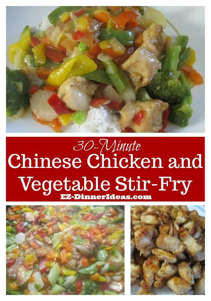 Chicken stir-fry recipe with a lot of vegetables is perfect for a low carb diet.  It is also great to serve as a one-pot family meal with rice.  YUMMY!