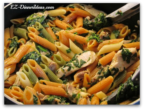 Chipotle Chicken Spinach Pasta