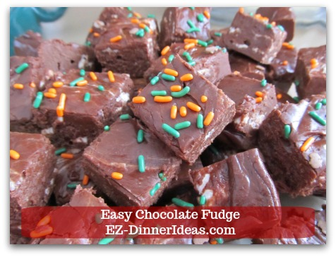 Easy Chocolate Fudge - There is no limit, but your imagination.  What would you add/change to kick this fudge recipe up a notch?  Share your idea.