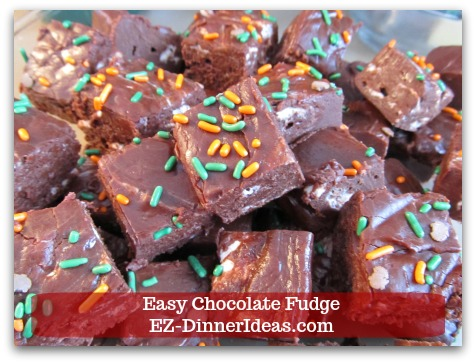 Easy Chocolate Fudge - One versatile recipe makes chocolate fudge so much fun to work with.