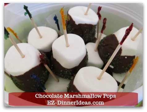 Chocolate Marshmallow Recipe | Chocolate Marshmallow Pops - Once chocolate is solidified, serve chocolate marshmallow pops or pack them into gift box giving away.