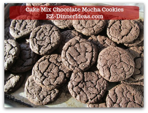 Recipe for Devils Food | Cake Mix Chocolate Mocha Cookies - Cookies can be left at room temperature overnight to let them completely cool down before adding icing on top.