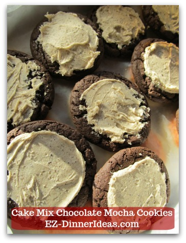 Recipe for Devils Food | Cake Mix Chocolate Mocha Cookies - Feel free to skip the sprinkles and dive into the yumminess of these cookies right after adding icing on top.