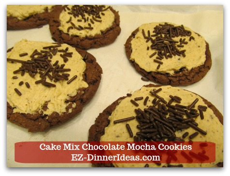 Recipe for Devils Food | Cake Mix Chocolate Mocha Cookies - If you think coffee or chocolate is addicting, you will be hooked with these cookies after the first bite.