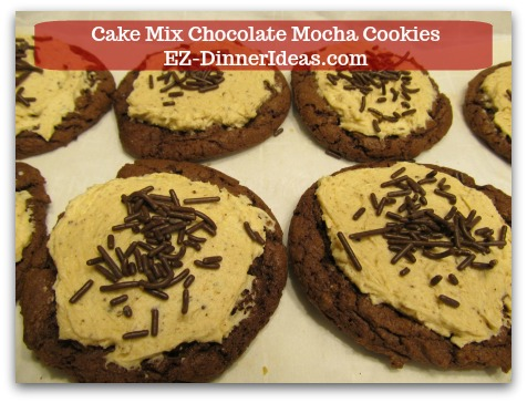 Cake Mix Chocolate Mocha Cookies - This recipe for devils food is super easy because all ingredients are store-bought.  Basically, you only need to mix and assemble everything together.