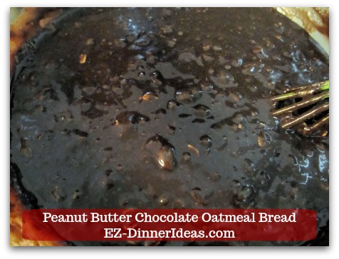 Great Breakfast Idea | Peanut Butter Chocolate Oatmeal Bread - Pour the dry ingredient mixture slowly into the wet one and combine.