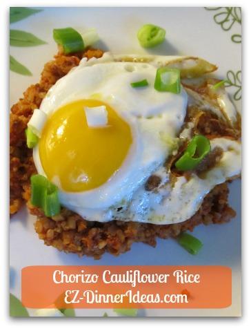 Chorizo Cauliflower Rice