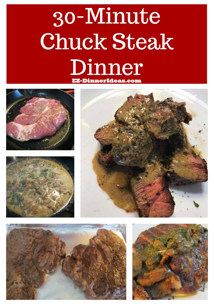 This chuck steak recipe is superb affordable.  If you have a big family, this is the steak dinner you want to serve over and over again.