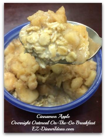 Cinnamon Apple Overnight Oatmeal On-The-Go