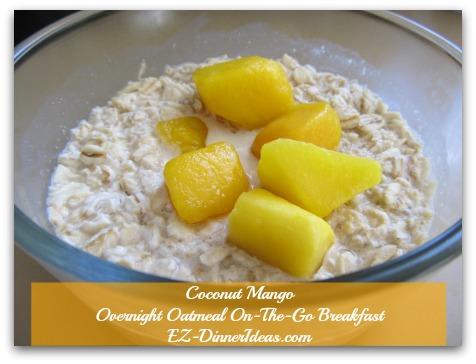 Coconut Mango Overnight Oatmeal On-The-Go