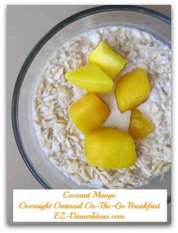 Overnight Oatmeal On-The-Go Breakfast EZ-DinnerIdeas.com