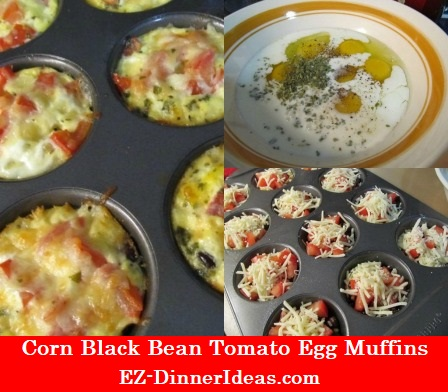 Corn Black Bean Tomato Egg Muffins, breakfast filled with vibrant colors.  That's the way to wake up in the morning.  Don't you think?