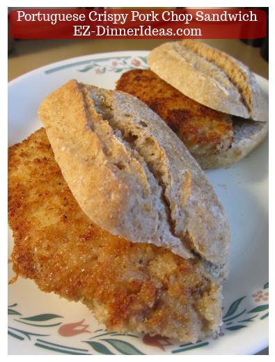 Portuguese Crispy Pork Chop Sandwich