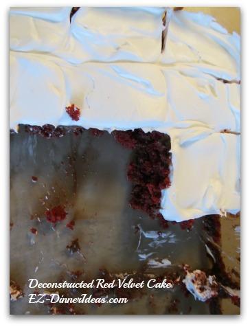 Deconstructed Red Velvet Cake