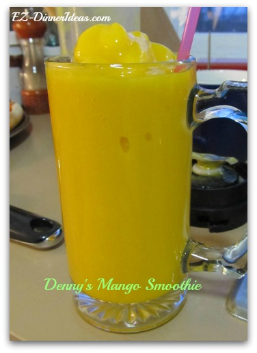 Great to pair this mango smoothie with hot and spicy food