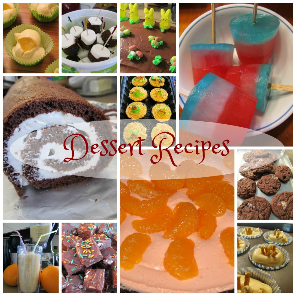 Dessert Recipes, no-bake, health nuts, creative, store-bought help, baker's heaven, heat chaser, they are all here for you.
