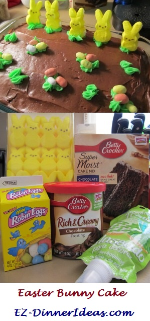 5 easy ingredients to make this Easter Bunny Cake