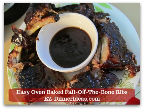 Baby Back Pork Ribs Recipe | Easy Oven Baked Fall-Off-The-Bone Ribs - Serve baby back ribs with more BBQ sauce for dipping.