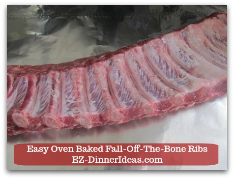Baby Back Pork Ribs Recipe | Easy Oven Baked Fall-Off-The-Bone Ribs - Here is a rack of ribs membrane free.
