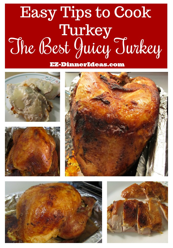 Easy Tips to Cook Turkey | The Best Juicy Turkey - These tips are based on common sense, logic and scientific facts.  They guarantee you the juiciest and tastiest turkey that you had ever had.