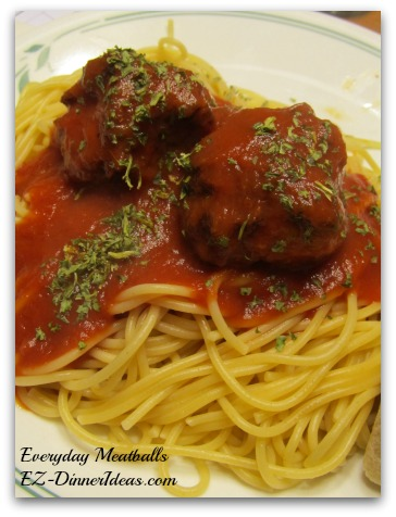 Everyday (Ground Chicken and Sausage) Meatballs with Spaghetti Sauce