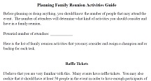 Planning Family Reunion Activities Guide