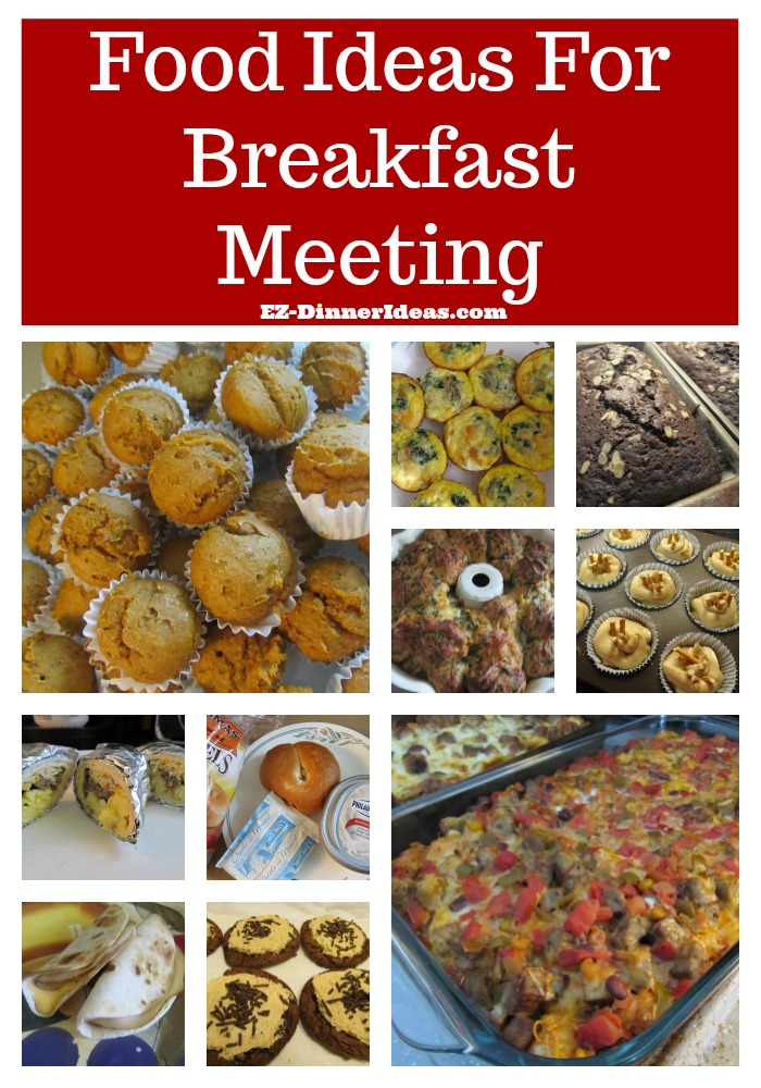 Not only food ideas for breakfast meeting, but also guides of how to plan from scratch.  Tips of using some store bought food to put a theme party together.