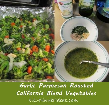 Garlic Parmesan Roasted California Blend Vegetables
