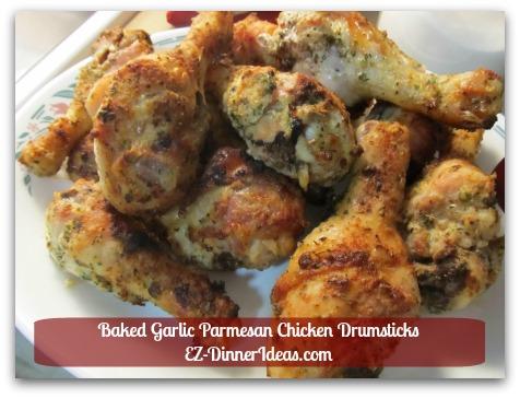 Baked Garlic Parmesan Chicken Drumsticks - Dinner is ready...dig in