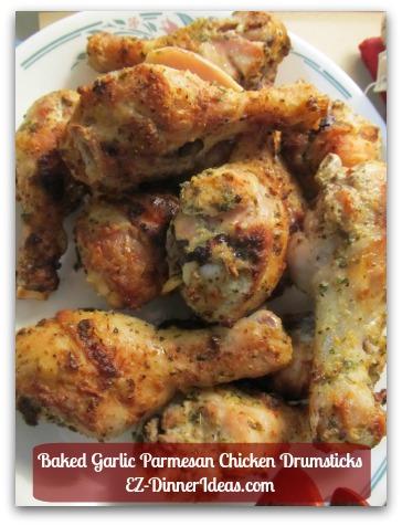 Baked Garlic Parmesan Chicken Drumsticks