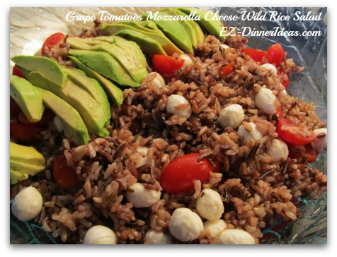 Grape Tomatoes Mozzarella Cheese Wild Rice Salad