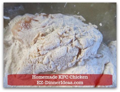KFC Fried Chicken Recipe | Homemade KFC Chicken - Shake off the excess flour.