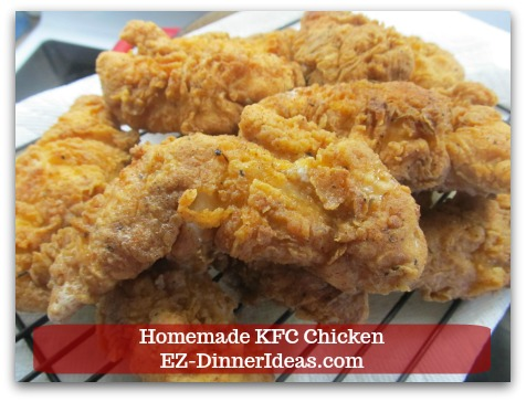 KFC Fried Chicken Recipe | Homemade KFC Chicken - Transfer cooked chicken on the prepared baking sheet in the oven and continue to cook the rest of the chicken.  ENJOY!