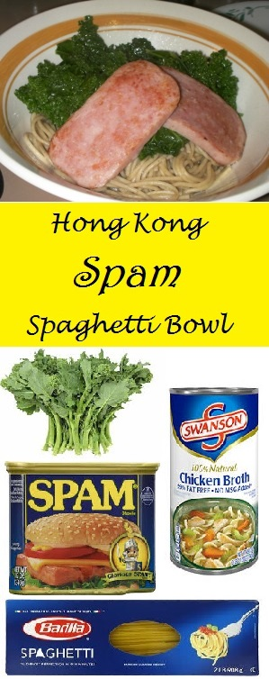 Hong Kong Spam Spaghetti Bowl