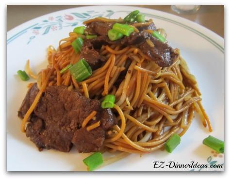 Hong Kong Style Beef Stir-Fry Spaghetti