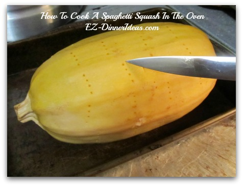 Bake it in the oven for an hour until a pairing knife can cut into the squash without any resistance