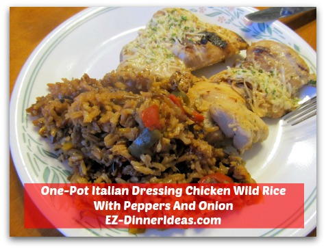 One-Pot Italian Dressing Chicken Wild Rice With Peppers And Onion