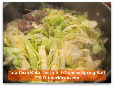 Chinese Pork Recipe | Low Carb Keto Unstuffed Chinese Spring Roll - Chop, drop and stir cabbage
