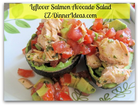 Salmon Avocado Salad - Who said that leftover fish goes to the garbage?  You can use smoked salmon or any leftover salmon for this delicious and healthy salad recipe.