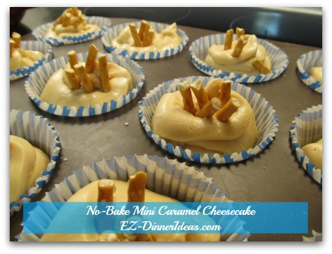 No-Bake Mini Caramel Cheesecake