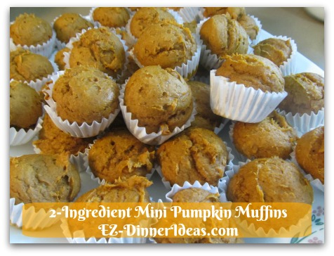 Recipe Using Spice Cake Mix | 2-Ingredient Mini Pumpkin Muffins - You can serve them at home for breakfast and snacks.