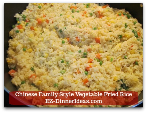 Mixed Vegetable Fried Rice | Chinese Family Style Vegetable Fried Rice - Once vegetables are warmed through, add seasonings