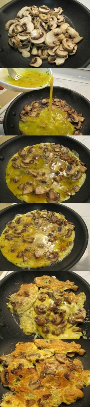 Step by step to make mushroom fried eggs recipe