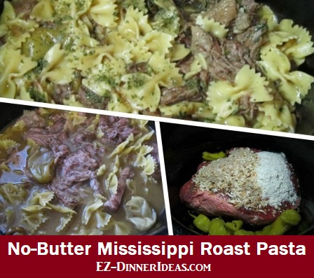 No-Butter Mississippi Roast Pasta, if you love the original recipe, this one is even better and healthier.