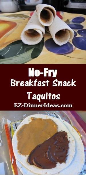 No-Fry Breakfast Snack Taquitos