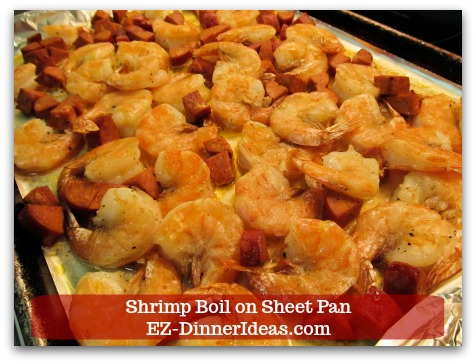 One-Pan Chorizo Sausage and Shrimp Bake