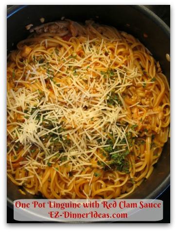 What To Do With The Clam Juice? One Pot Linguine with Red Clam Sauce Another Great Pantry Recipe, Too