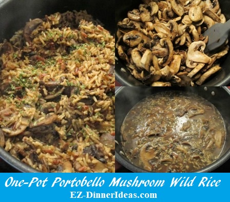 One-Pot Portobello Mushroom Wild Rice, a very comforting, but healthy one-pot dinner.