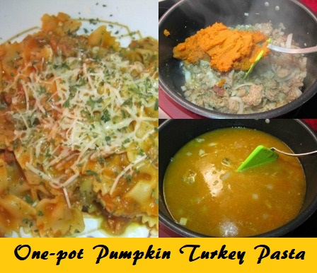 One-pot Pumpkin Turkey Pasta